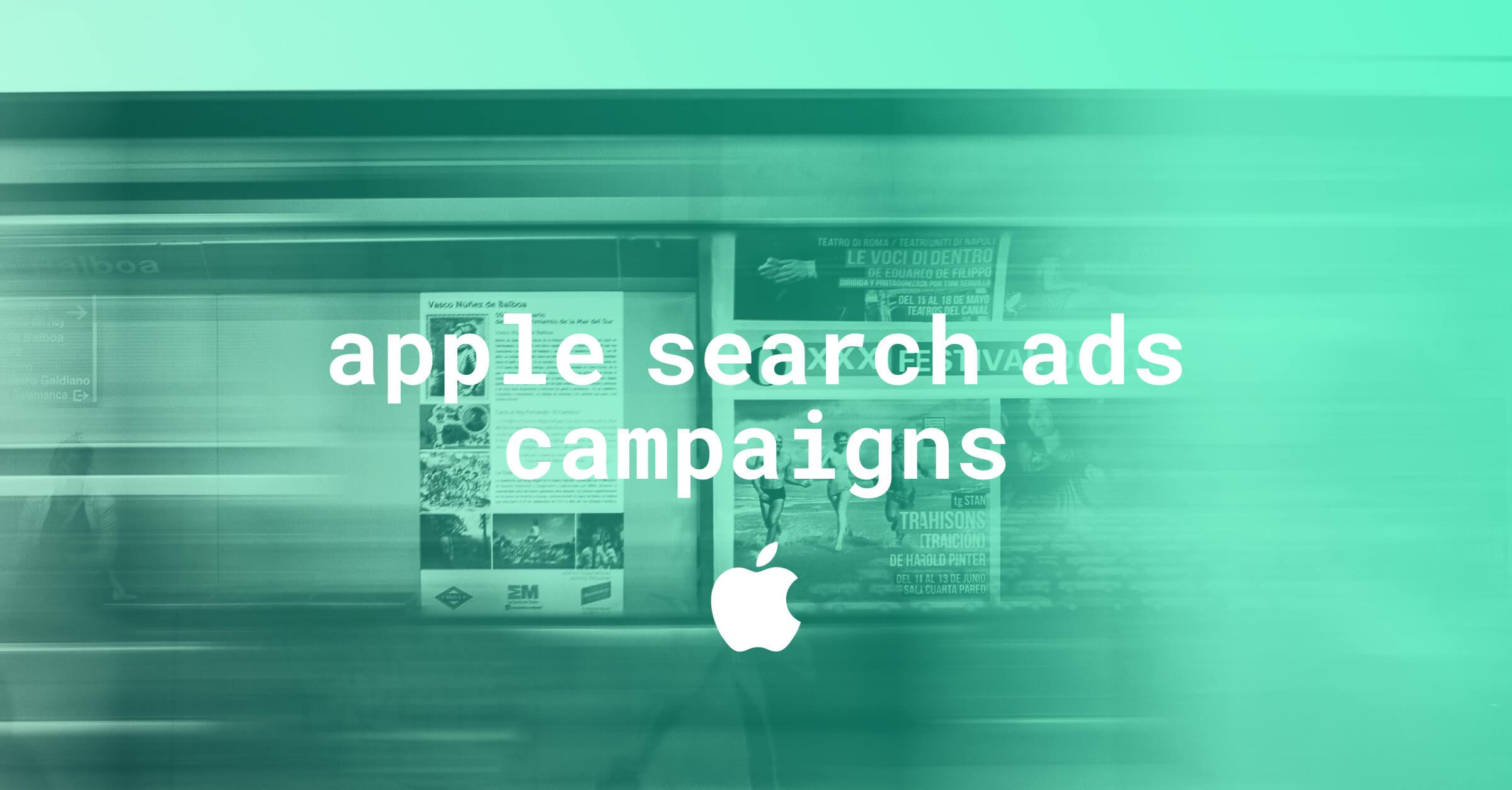 apple search ad campaigns
