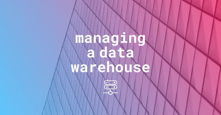 Data warehouse managing