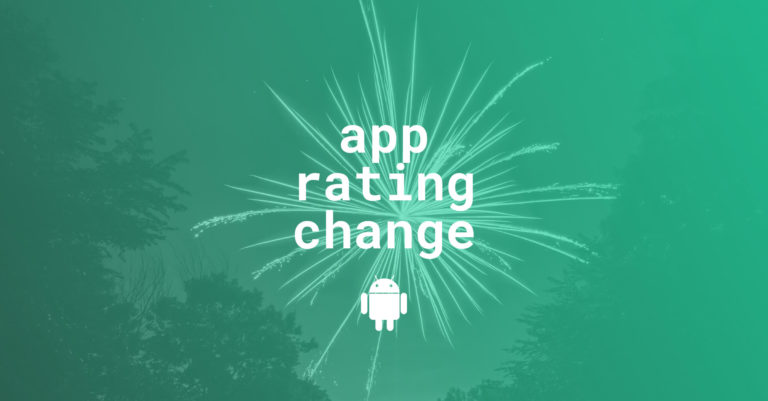 app rating change